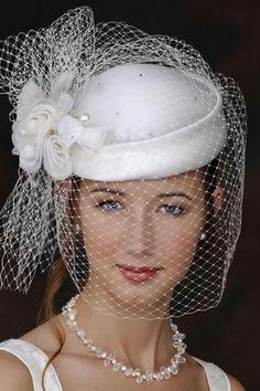 Pill Box Wedding Hat