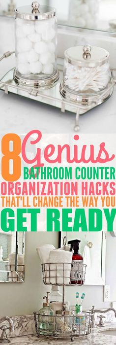 I absolutely love these 8 bathroom counter organization hacks.I absolutely love these 8 bathroom counter organization hacks.Home Wall Ideas Organisation Hacks, Organizing Hacks, Diy Hacks, Organization Station, Bathroom Makeovers On A Budget, Budget Bathroom, Bathroom Ideas, Restroom Ideas, Remodel Bathroom