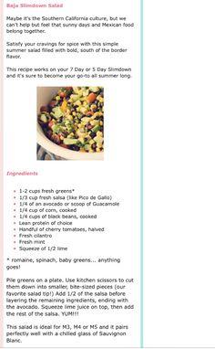 Baja slim down salad by tone it up