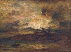 Wilhelm Xylander - Fisherman in a Moonlit Landscape