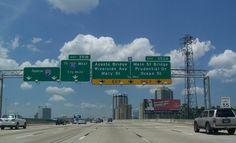 Jacksonville, Florida | Jacksonville, Florida NB on the Fuller Warren Bridge