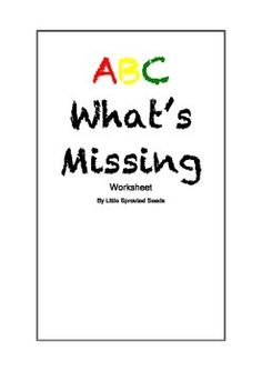 This is an ABC cut-paste worksheet. It involves finding the missing letters of the alphabet. It is good for new readers and children who are just starting out with the alphabet.