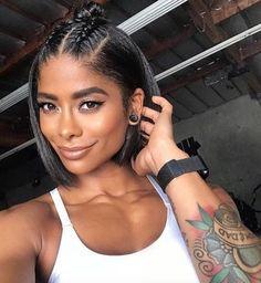 Black Girls Hairstyles, Bob Hairstyles, Straight Hairstyles, Pretty Hairstyles, Relaxed Hairstyles, Hairstyle Ideas, Pixie Haircuts, Braided Hairstyles For Black Hair, Natural Black Hairstyles