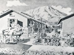 Huts at the Argyle Street (亞皆老街) PoW Camp, Hong Kong, 1942-45. From A. V. Skvorzov, Chinese Ink and Brush Sketches of Prisoner of War Camp Life in Hong Kong, 25 December 1941-30 August 1945. A civil engineer by profession, as well as an officer in the Hong Kong Volunteer Defence Corps, Lieut. Alexander V. Skvorzov was part of the White Russian emigre diaspora who made their homes in China, and moved to Hong Kong in 1938…