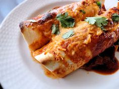 La Petite Brioche: Chicken Enchiladas with Red Chile Sauce