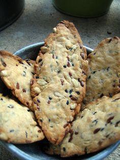 Crackers aux petites graines (sans oeuf, sans beurre)