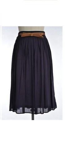 This cute bestselling modest midi skirt (belt included) is BACK!!