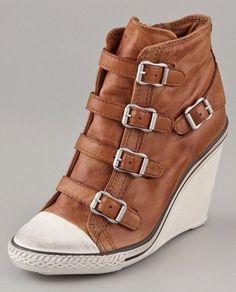 eeda4e611c7 Hi-heel sneaker wedges. What s not to love here   ) Wedge Sneakers