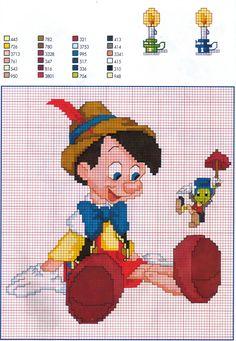 Pinocchio hama perler beads pattern