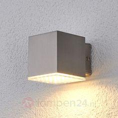 Compacte LED-buitenwandlamp Lydia, rvs veilig & makkelijk online bestellen op lampen24.nl
