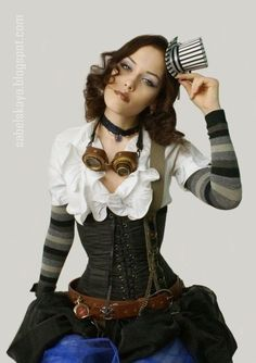 love the whole look. simple. effective. comfortable. easy to wear steampunk, circus style outfit, costume for all roll ups when they dont want to stick out too much when they run to the shops