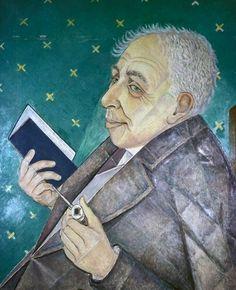 Portrait of Ilya Ehrenburg, 1956  Marevna (Marie Vorobieff)