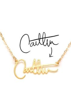 Custom Signature Necklace ♥ {Turn your John Hancock into personal custom one of a kind Necklace}