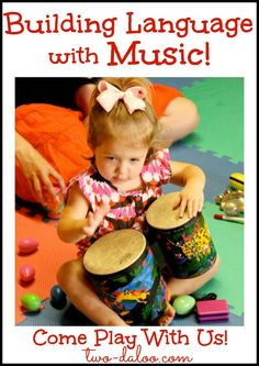 Learn how music stimulates language and ways to use language to boost communication skills with your little one at home. Great information for parents, teachers, and therapy professionals.