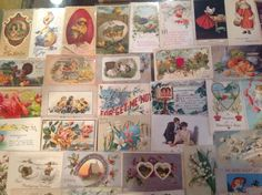 Nice! Vintage/Antique Lot of 1900's Holiday/Greetings Postcards-100 Cards-ttt821 #Easter