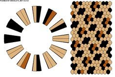 warping diagram for a cheetah print 24 strand round kumihimo braid