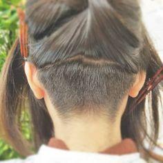 画像に含まれている可能性があるもの:1人以上、クローズアップ Thick Bangs, Cool Haircuts, Undercut, Hair Cuts, Sari, Hair Styles, Beauty, Women, Check