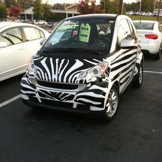 Zebra smart car, this will be mine!