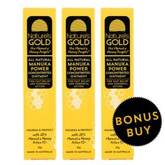 BUY 2 GET 1 FREE  Manuka Power Triple Pack. Read more about MANUKA POWER Concentrated Ointment