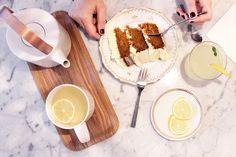 thé et carotte cake chez Mona a Bordeaux