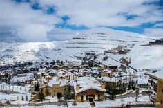 LEBANON, A VIEW OF FARAYA SKI RESORT