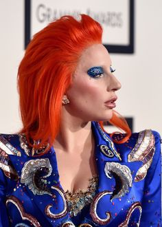 Lady Gaga Goes Full-Tilt David Bowie at This Year's Grammy Awards
