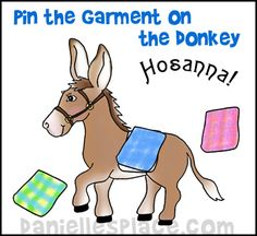 Easter Craft - Pin the Garment on the Donkey from www.daniellesplace.com