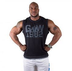 87cb950c7964d Gorilla Wear GW1982 Sleeveless Tee Pro Black Gray - MuscleStoreUSA Men s  Clothing