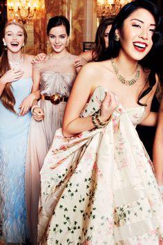 **Put Asian girls hair/head on champagne gold belt dress?? champagne Inside Le Bal des Debutantes at Hotel de Crillon