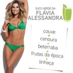 Suco verde Flávia Alessandra