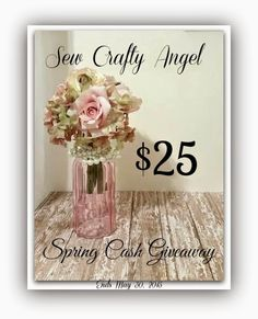 Sew Crafty Angel: May Spring Giveaway @ Sew Crafty Angel