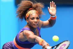 Putting her body on the line: Serena Williams' determination to win saw her hit herself in the face with her racquet during her match against Garbine Muguruza