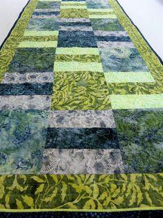 Quilted Table Runner-Batik Table Runner-Boho Table