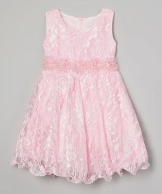 Look at this #zulilyfind! Pink Floral Lace Layered Babydoll Dress - Toddler #zulilyfinds