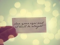 close your eyes and it will be alright
