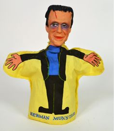 """devilduck: """" The Munsters hand puppets Ideal. Munsters Tv Show, The Munsters, Frankenstein's Monster, Monster Mash, Types Of Puppets, Herman Munster, Black Sheep Of The Family, Yvonne De Carlo, Hand Puppets"""