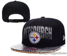fb92e7af5eded Pittsburgh Steelers Snapback Hats Silver Font NFL Logo Caps Black Pittsburgh  Steelers Hats