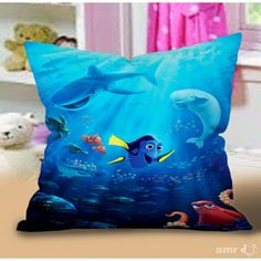 Finding Dory Pillow Case #Handmade #pillowcase #pillowcover #cushioncase #cushioncover #best #new #trending #rare #hot #cheap #bestselling #bestquality #home #decor #bed #bedding #polyester #fashion #style #elegant #awesome #luxury #custom