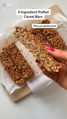 Healthy Sweets, Healthy Baking, Healthy Snacks, Healthy Recipes, Firm Tofu Recipes, Breakfast Bars Healthy, Healthy Bedtime Snacks, Protein Bar Recipes, Vegan Recipes Videos
