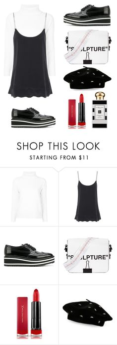 """Monochrome Streetstyle"" by sekarmenjangan on Polyvore featuring Moncler, 81hours, Prada, Off-White, Max Factor, Jo Malone and Steve Madden"
