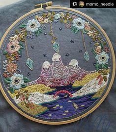 @momo_needle #needlework #handembroidery #ricamo #bordado #broderie #embroidery