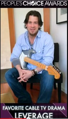 Christian Kane from THANK YOU for winning PCA AWARDS video from LEVERAGE screen capped