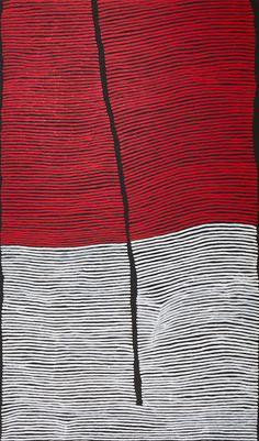 RONNIE TJAMPITJINPA (BORN c.1943) Bushfire Dreaming 2000 acrylic on canvas