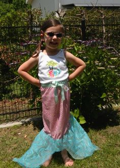 Simple Wrap-Around Mermaid Tail - needs some tweaks, but would be a nice addition to our dress up clothes.