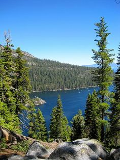 Lake Tahoe - (Emerald Bay is a beautiful campground...but there are several) It really is one of the most beautiful places in the U.S!