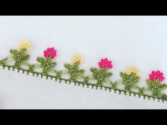 Baby Knitting Patterns, Youtube, Crochet Kitchen, Creativity, Disney Cross Stitches, Tejidos, Flowers, Hand Applique, Youtubers