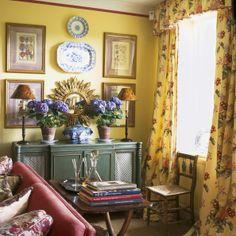 Symmetry. Wayward Welsh drawing room
