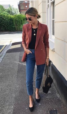 summer to fall work outfits – Hijab Fashion 2020 Fall Outfits For Work, Casual Work Outfits, Business Casual Outfits, Professional Outfits, Work Attire, Spring Outfits, Cute Outfits, Pink Blazer Outfits, Casual Friday Outfit