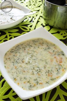Zupa koperkowa - Ulubione Przepisy Baby Food Recipes, Soup Recipes, Diet Recipes, Vegetarian Recipes, Cooking Recipes, Healthy Recipes, Food L, Sandwiches, Vegan Soups
