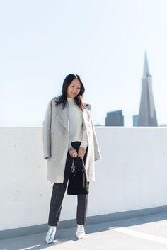 Gray car coat